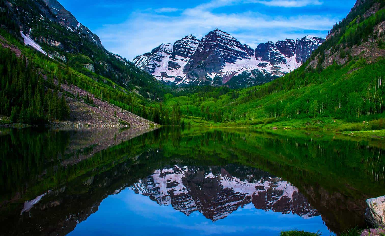 Maroon Bells in the Summer