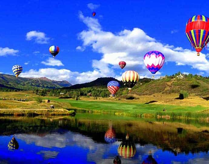 Hot Air Balloons in Snowmass, Colorado
