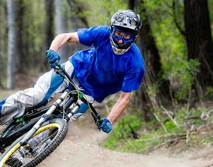 Man Mountain Biking in the Summer in Snowmass, Colorado