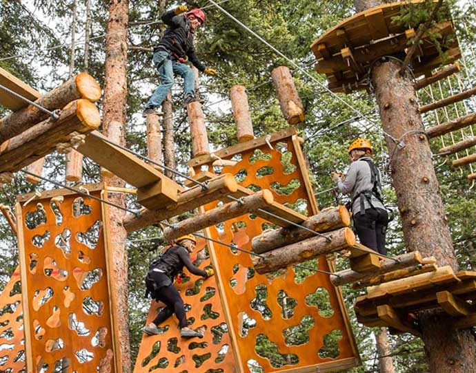 Lost Forest challenge ropes course in Snowmass, Colorado