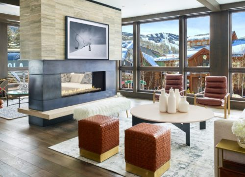 Snowmass Mountain Lodging Lumin Residences Living Room